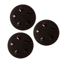 Fashion Button 3/4'' Night Lights Black
