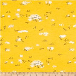 Birch Organic Charley Harper Western Birds Interlock Knit Tracks Sunny