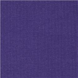 Basic Cotton Rib Knit Light Purple