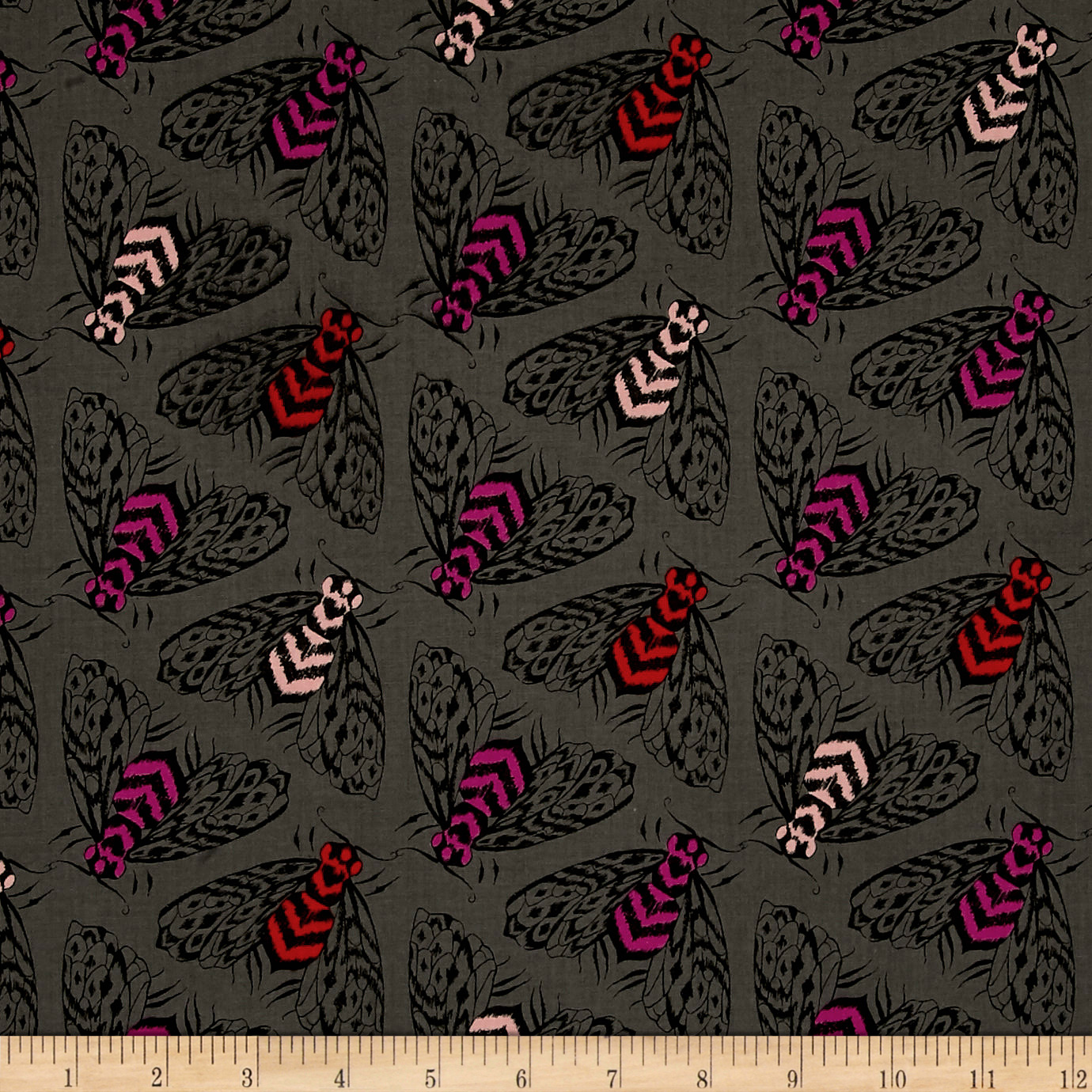 Image of Cotton + Steel Magic Forest Bees Charcoal Fabric