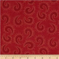 Heritage Hollow Star Paisley Red
