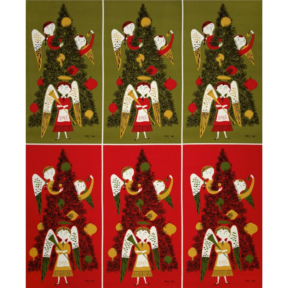 Michael Miller Tammis Angels Panel Red
