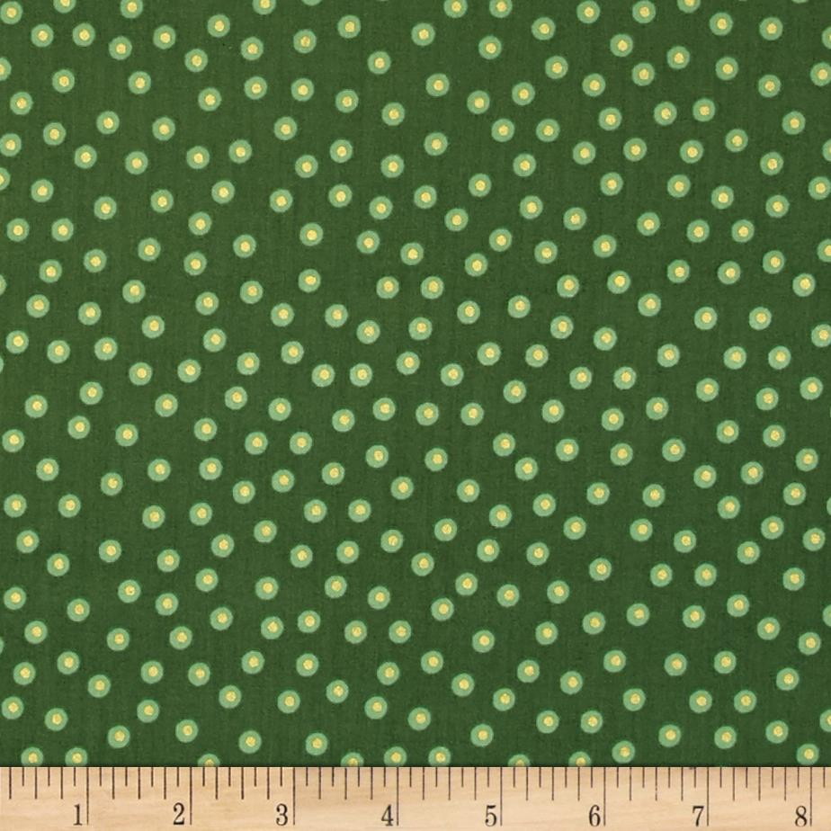 Happy Holidays Metallic Dots Green