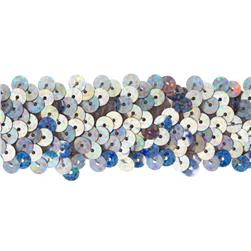 Team Spirit 1.25'' #66 Sequin Trim Silver Spot