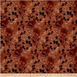 "Ivy 118"" Wide Back Leaves Brown"