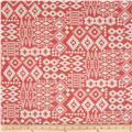 Crepe Georgette Ikat Bohemian Pink/White