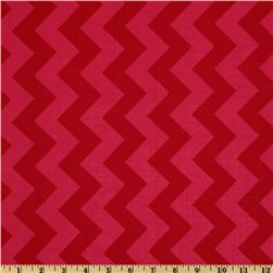 Riley Blake Chevron Medium Tonal Red Fabric