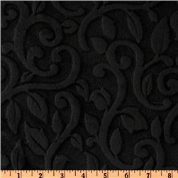 Minky Vine Cuddle Black Fabric