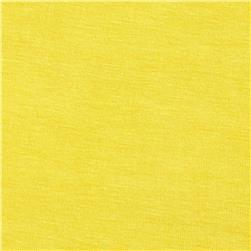 Stretch Rayon Jersey Knit Lemon Fabric