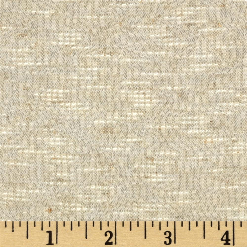 Slub Rib Knit Cream