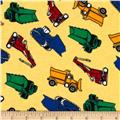 Flannel Tossed Trucks Yellow
