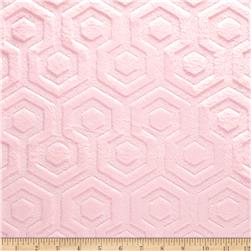 Premier Prints Embossed Geo Cuddle Blush Fabric