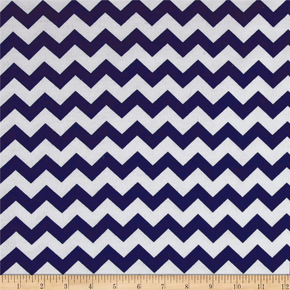 Dreamland Flannel Simply Chevron Navy Skies