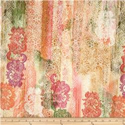 Timeless Treasures Indian Summer Abstract Lace Stripe