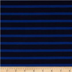 Designer Ponte De Roma Knit Stripe Blue/Black