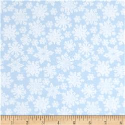 Seasons Greetings Imagine Snowflakes Blue