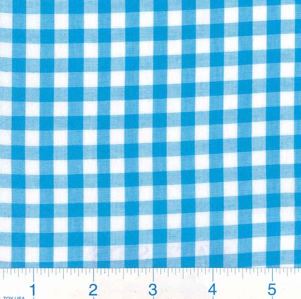 Woven 1/4 Gingham Turquoise