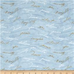 Sea of Tranquility Inspiring Words Blue/Green