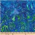 Kaufman Artisan Batiks Totally Tropical Fish Ocean