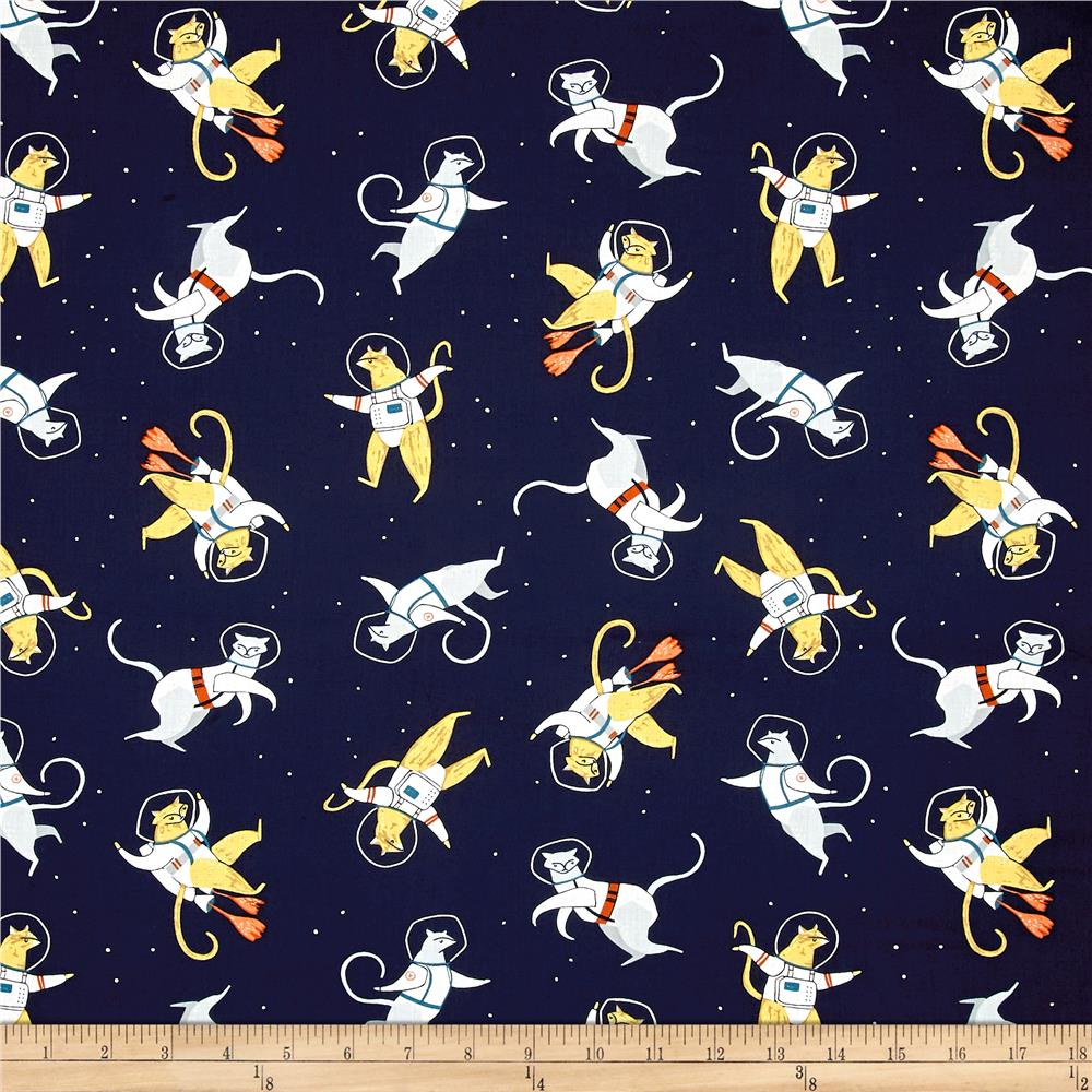 Dear stella supernova cats in space navy discount for Space cat fabric