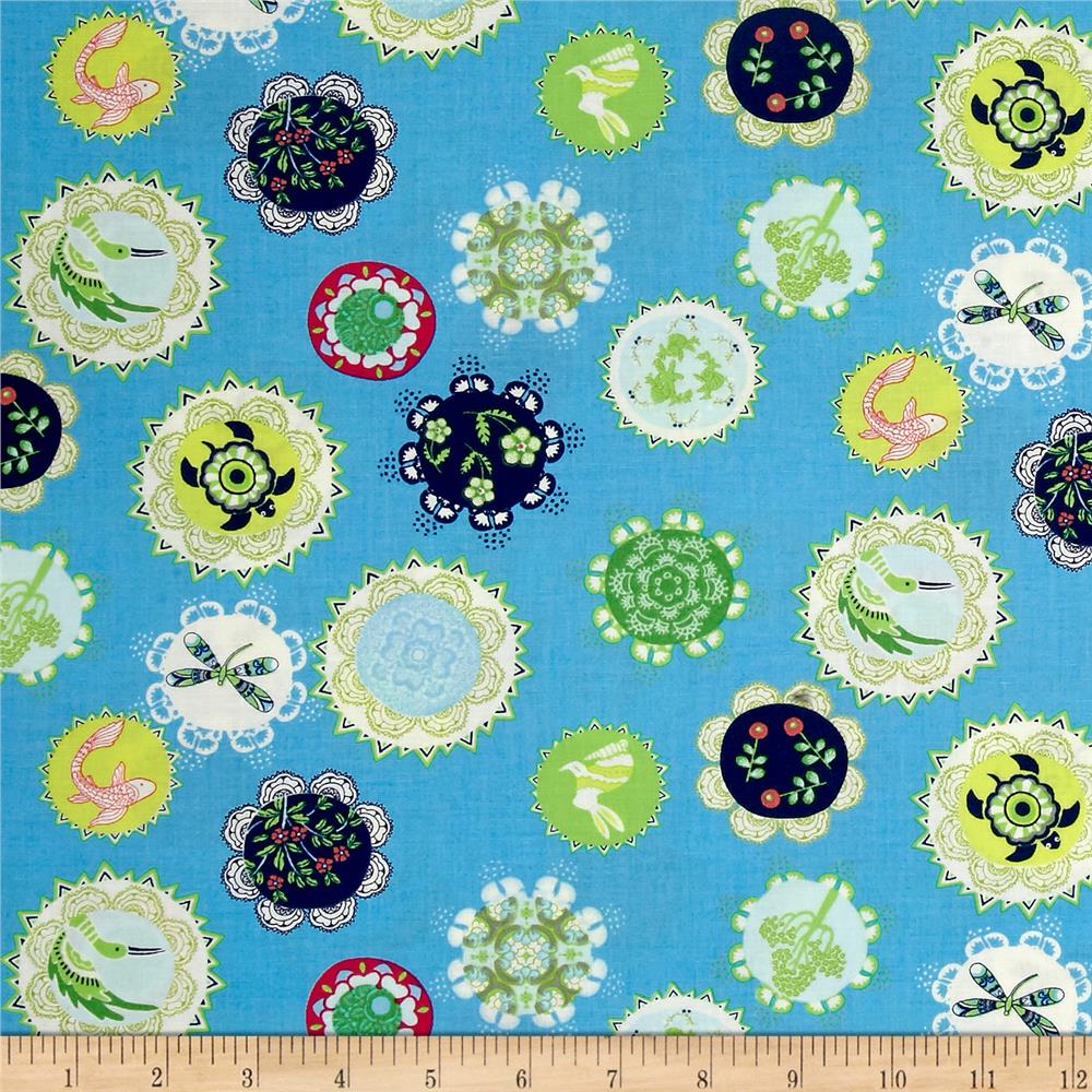 Moda manderley little world bright sky discount designer for Fabric world