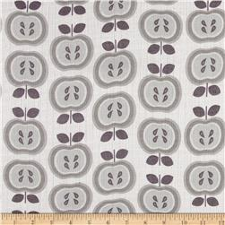 Riley Blake Double Gauze Gray Apples