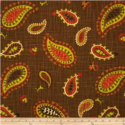 Waverly Desert Sky Slub Cayenne Fabric