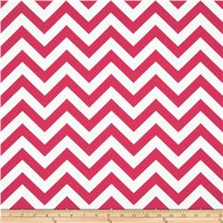 Premier Prints Zig Zag Candy Pink/White Fabric