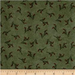 Folk Art Flannels Sprig Toss Green