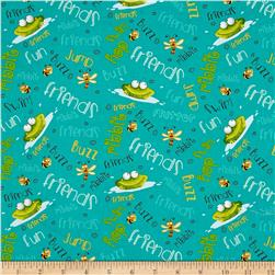 Frogland Friends Frogs And Words Teal