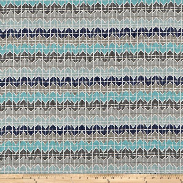 Scott Living Tessellate Basketweave Cyan Belgian Fabric