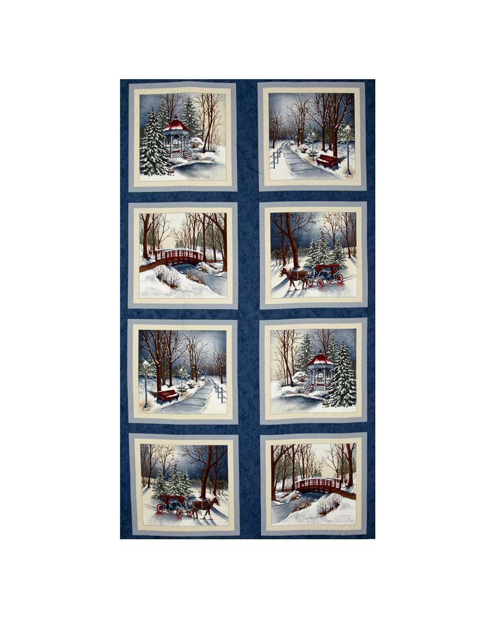 Moda Town Square 24 In. Panel Harbor Blue