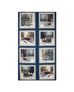 Moda Town Square Panel Harbor Blue