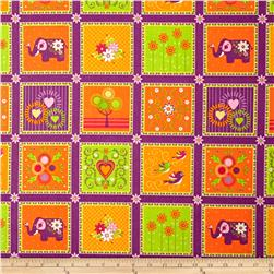 Mystic Forest Animal Blocks Purple