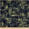 Michael Miller Valencia Painter's Canvas Charcoal Metallic
