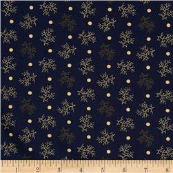 Tavern Collection Branches and Dots Navy