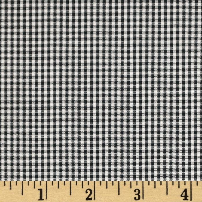 Cotton Gingham Check 1/16'' Black/White