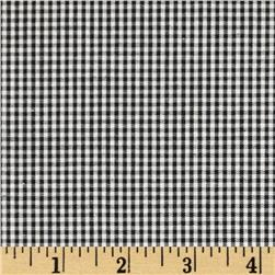 Cotton Gingham Check 1/16'' Black/White Fabric