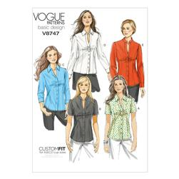 Vogue Misses'/Misses' Petite Shirt Pattern V8747 Size AA0