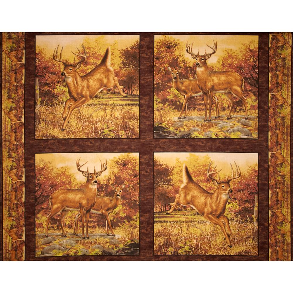 Hautman Deer Panel Brown