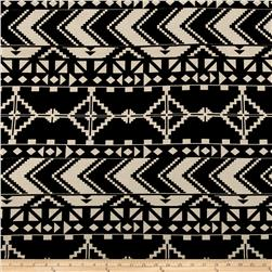 Aztec Chevron Diamond Jersey Knit Print Black/Wheat