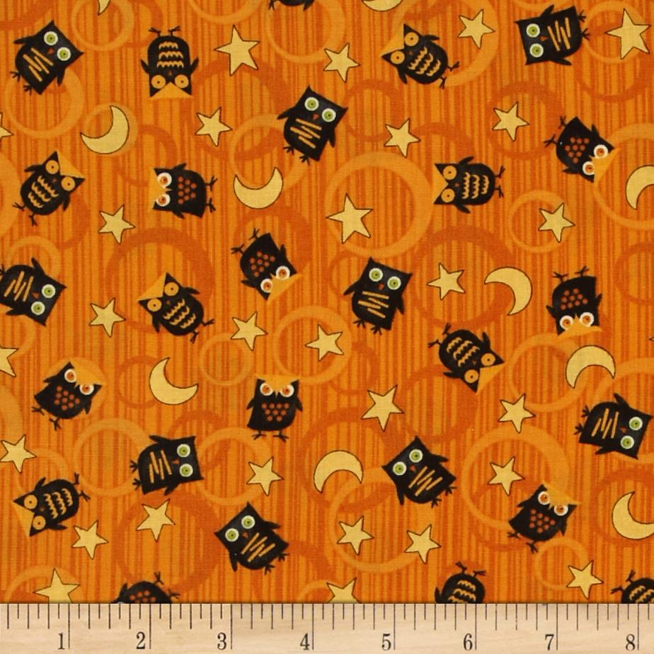 Scaredy Cats Owls Over The Moon Orange