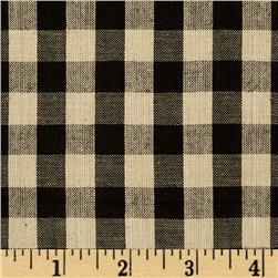 Homespun Yarn Dyed Buffalo Plaid Shirting Black/Tan