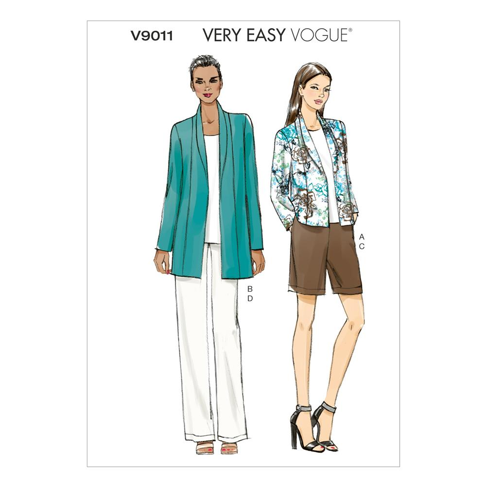 Vogue Misses' Jacket, Shorts and Pants Pattern V9011