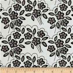 Riley Blake Mystique Flower White/Grey