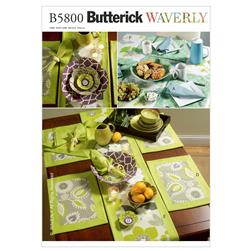 Butterick Napkins, Placemats, Table Runner, Table Cloth  Pattern B5800 Size OSZ