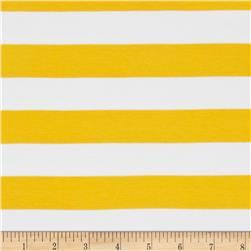 "Riley Blake Jersey Knit 1"" Stripes Yellow"