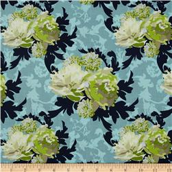 Riley Blake Vintage Verona Floral Green Fabric