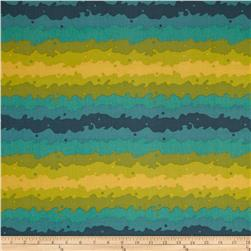 Clover Sunshine Kite Tail Teal/ Green Fabric