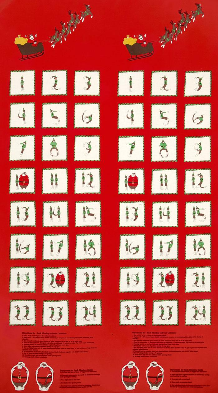 Moda Santa's Little Helpers Advent Calender Red